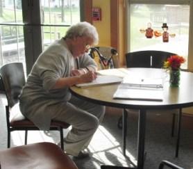 Great grandma writing in YUM-LS