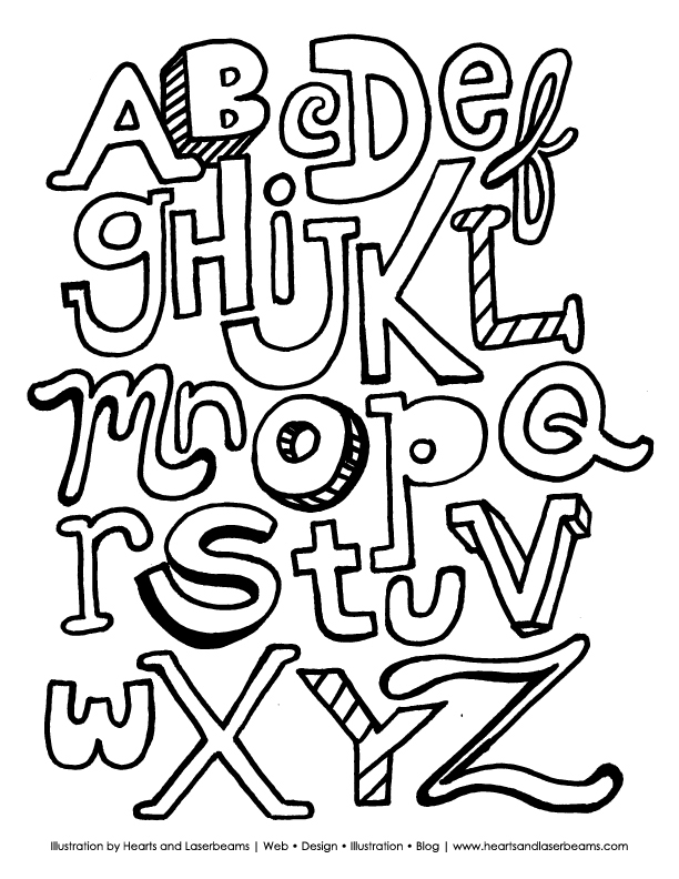 the abc letters free jpg