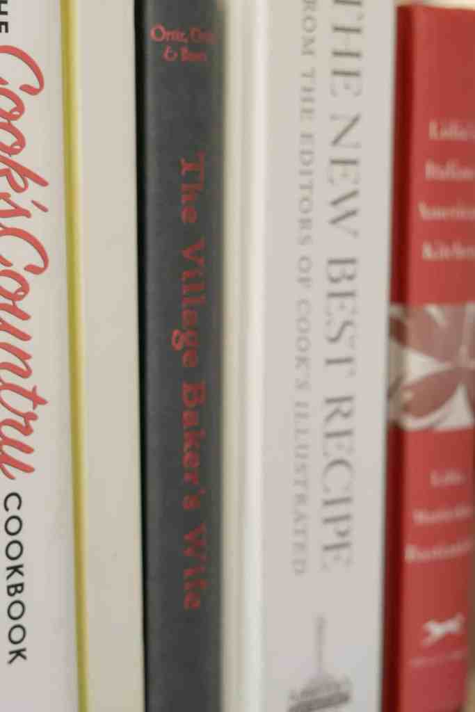 cookbooks in a row