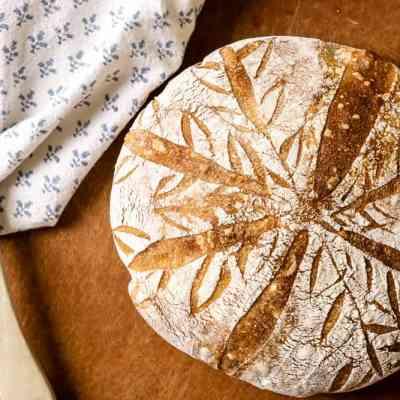 artisan sourdough bread loaf