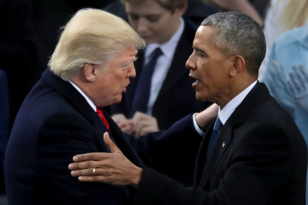 "Barack Obama issued a statement on Donald Trump's controversial travel ban Monday, saying he supported the protesters and that he ""fundamentally disagrees with the notion of discriminating against individuals because of their faith or religion."""