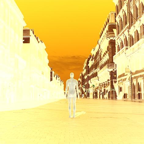 Bordeaux, Cours de l'Intendance, Un Homme attend,