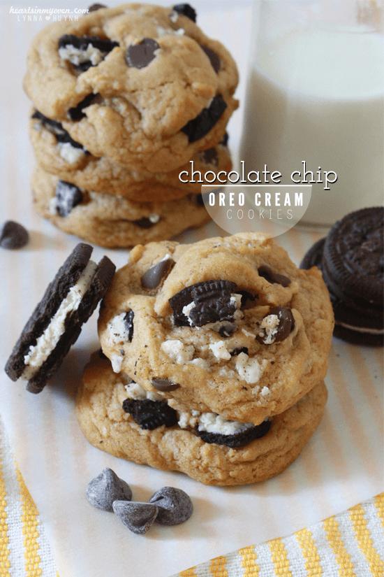 Chocolate Chip Oreo Cream Cookies #fbcookieswap