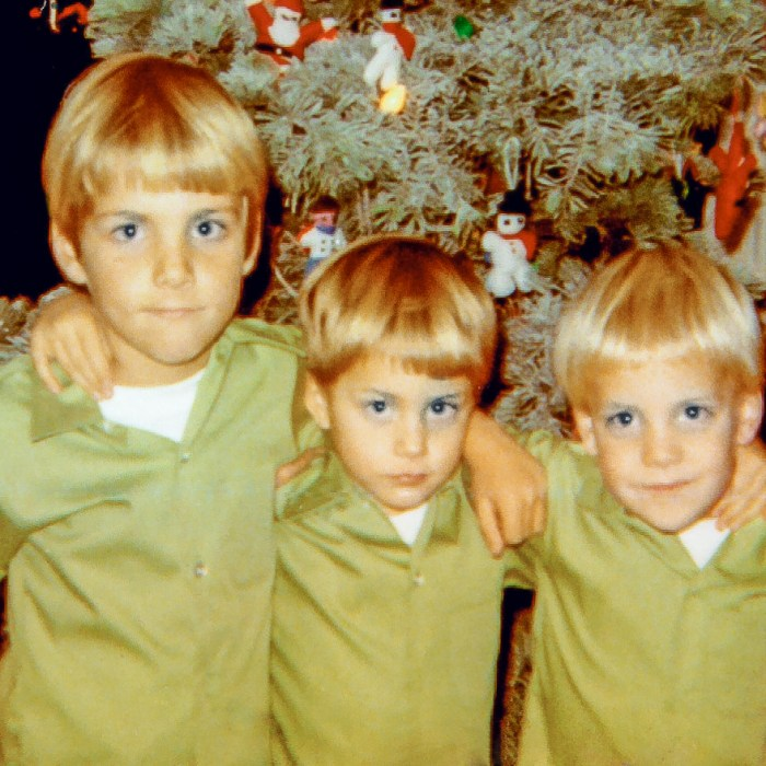 Ted, Chad, & Tony (left to right) Christmas 1969