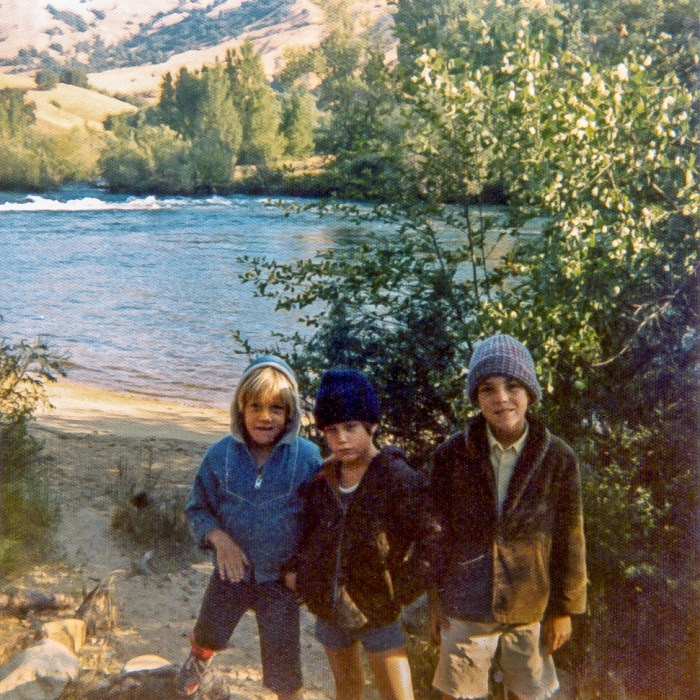 Tony, Chad & Ted (left to right) at lake 1970