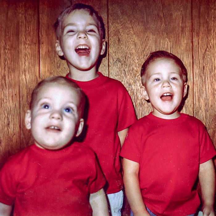 Tony, Ted, & Chad (left to right) red shirts 1967