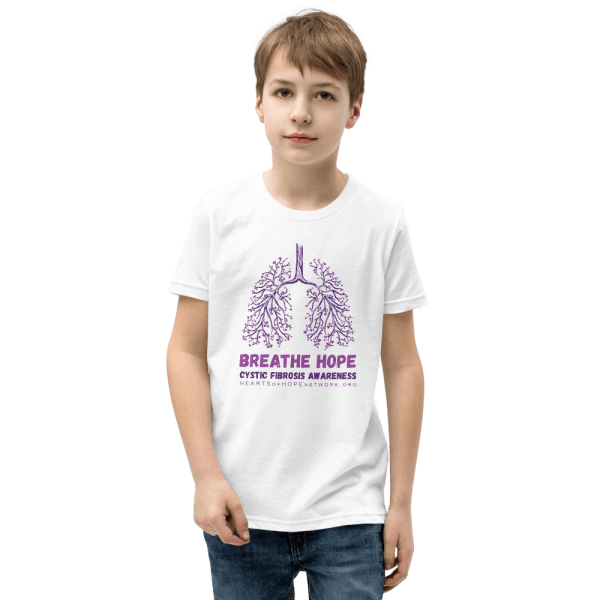 Just Breathe Cystic Fibrosis Awareness Youth Tee