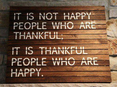 Happy people thankful people