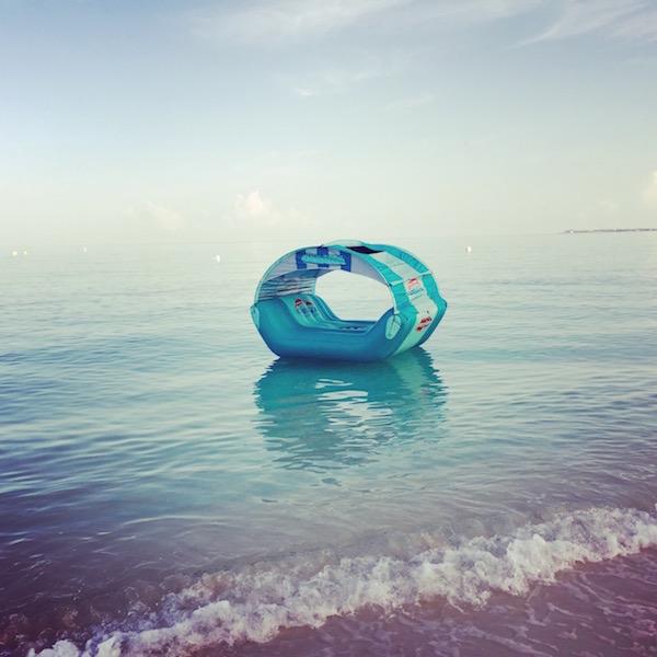 Inflatable cabana