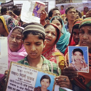 Faces of People who died in Rana Plaza