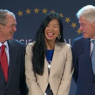 Diana Mao Presidential Leadership Scholars with President George Bush and President Bill Clinton