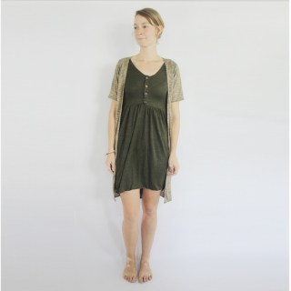 The Henley Dress and Sweater knit duster by Arrowroot