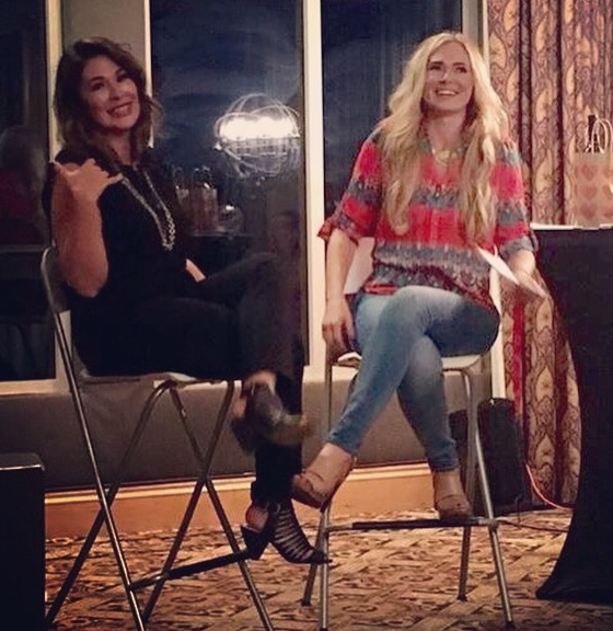 Kim and Crystal Sisters sharing secrets at Girl's Night Out~ Crystal Gornto | heart stories