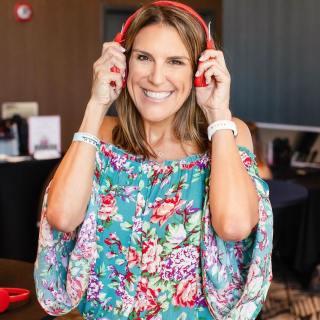 Angela Deaton HeartStories Red Headphones