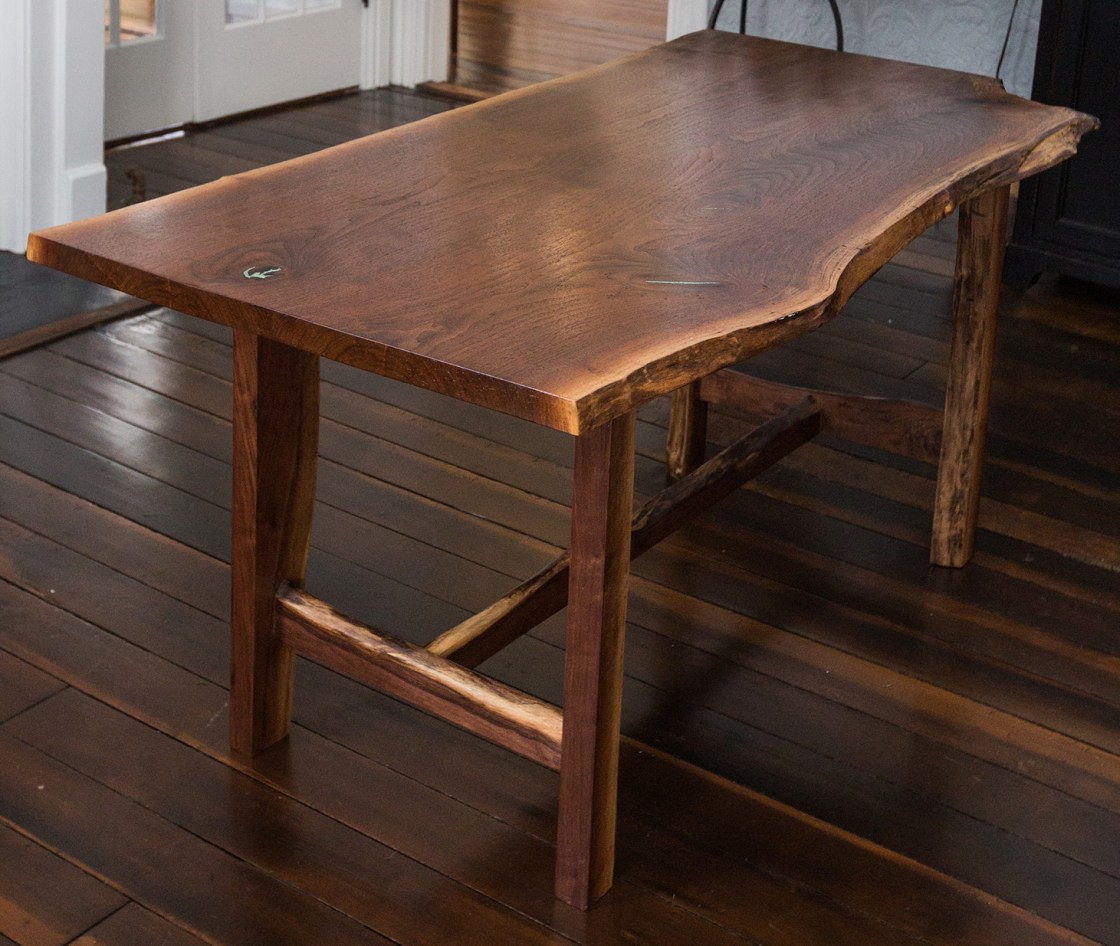 Live Edge Walnut Dinner Table