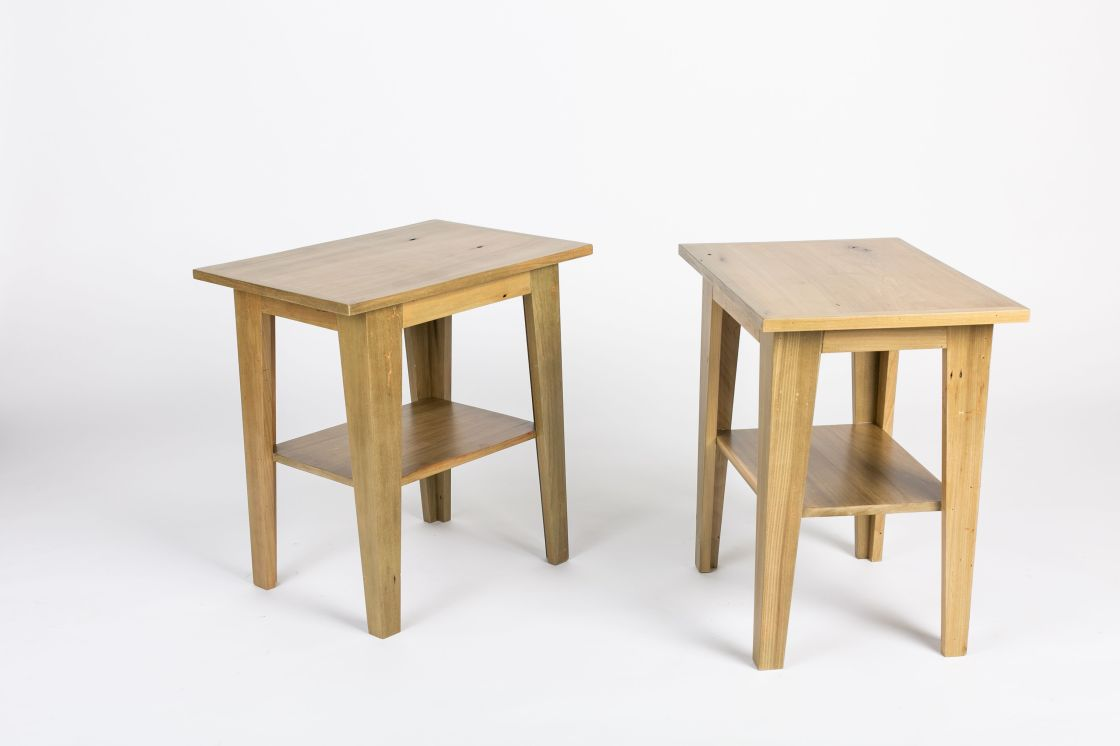 Reclaimed Poplar End Tables