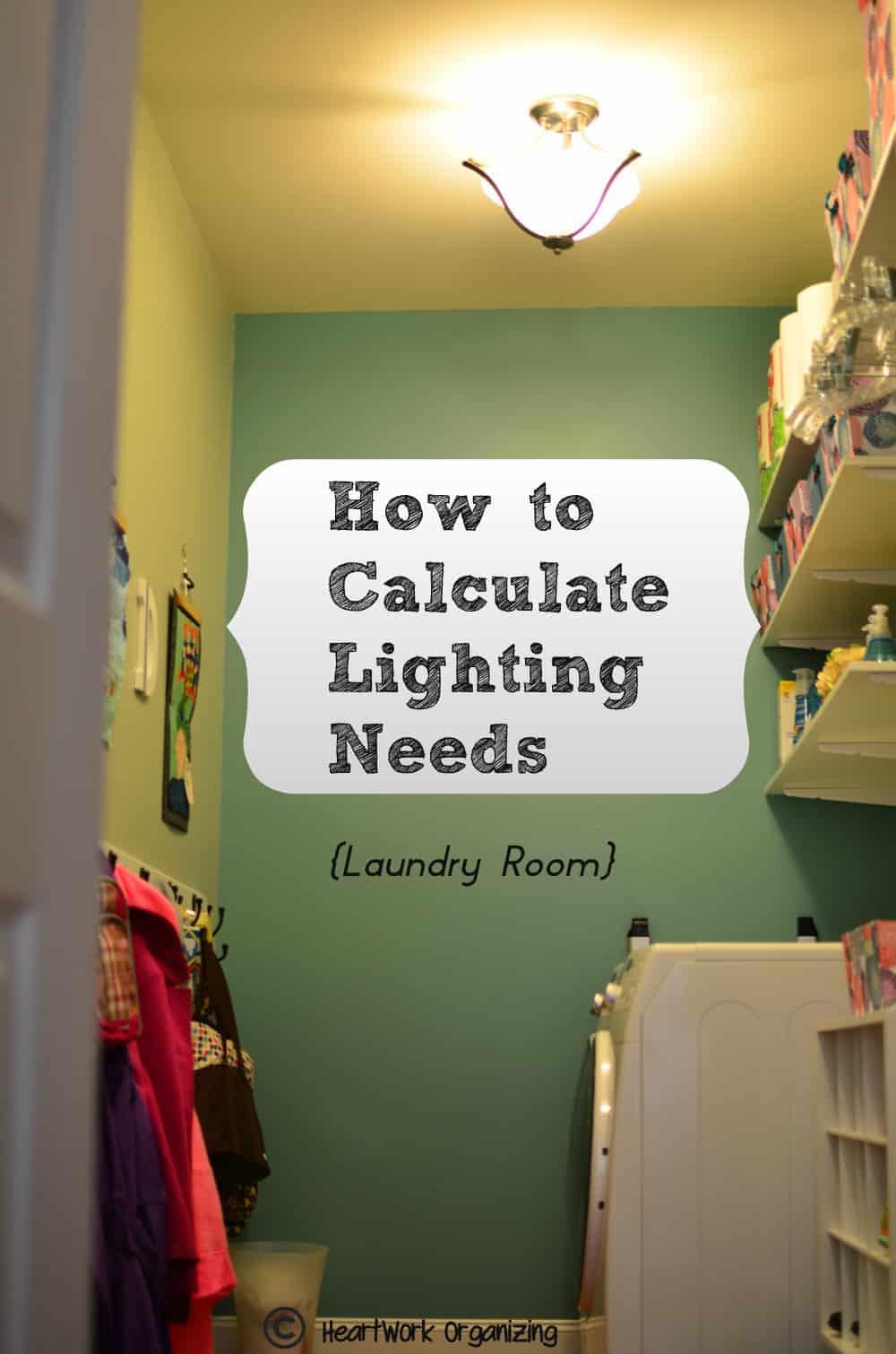 how to calculate lighting needs