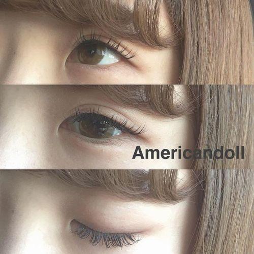..お人形さんみたいな可愛い印象の目にしたい方には真ん中長めのAmericandoll design がおすすめです〜〜🧚🏼♀️.#HEARTY #eyelash#hcカール #americandoll#マツエク #高崎マツエク