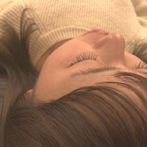 ..初めてのまつげのお客様♡mocha brown.Eyelist ( @__ememr ).#HEARTY #eyelash