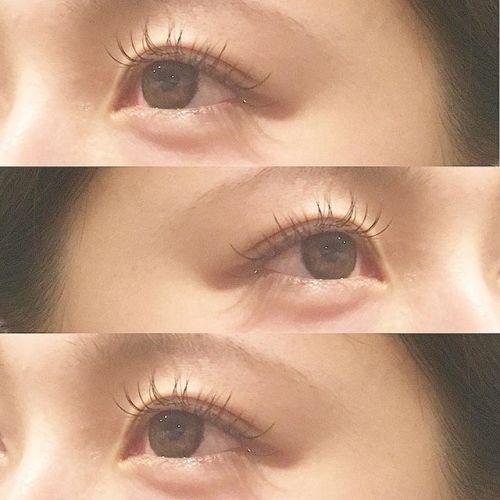 ..真ん中長めのデザインでcuteな目元に🧚🏼♀️.#HEARTY #eyelash#cカール #black #cute