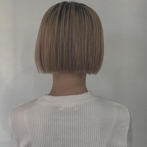 blondの切りっぱなし︎かわいいです︎ stylist @creamy_cn #HEARTY #高崎 #高崎美容室 #blond #bob #ブロンド #切りっぱなしボブ