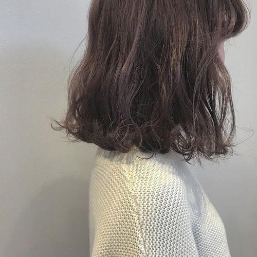 hair ... TOMMY ︎smoky pink @hearty_tommy #hearty #hearty abond#abond#高崎#高崎美容室