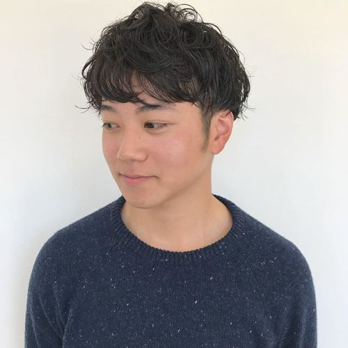 マッシュショート♂️くせ毛のようなパーマで抜け感をプラス@sugita.ryosuke #パーマ #メンズ #メンズヘア #高崎 #高崎美容室