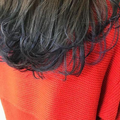 ネイビーブルーの毛先カラー♂️@sugita.ryosuke #高崎 #高崎美容室 #sugisutagram