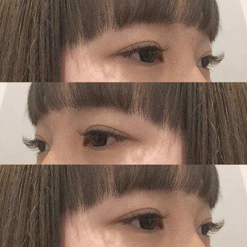 ..初めてのマツエクのお客様🧚🏻♀️暗めの mocha brown で髪色との相性も抜群🏻.Eyelist ( @__ememr ).#HEARTY #eyelash #mochabrown