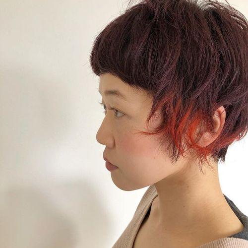 いつも横浜からご来店して頂けるお客様cherry brownにインナーが可愛い!stylist:@hearty_miyahara #hearty#color#高崎美容室#インナーカラー