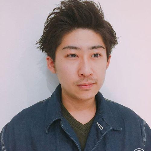 あえて角を残す事でシンプルながら、ヤンチャな印象に。@akikokiakikoki #メンズカット#メンズヘアスタイル#高崎美容室ハーティー