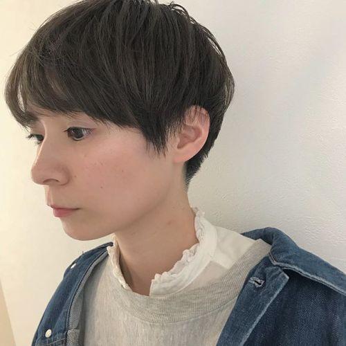 担当シオリ @shiori_tomii 襟足をすっきり刈り上げたマッシュショート#hearty#shiori_hair #マッシュショート#高崎美容室