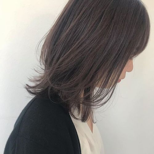 担当シオリ @shiori_tomii 長さはかえず、動きが出るように、色味はラベンダーベージュで柔らかさを#hearty#shiori_hair #ラベンダーベージュ#高崎美容室