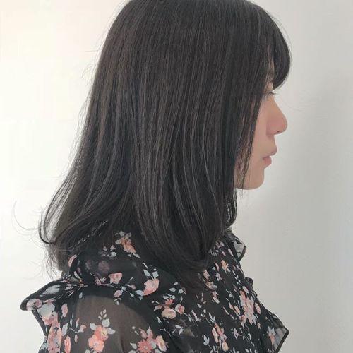 担当シオリ @shiori_tomii 赤み0のダークグレージュ🧚♀️#hearty#shiori_hair #グレージュ#高崎美容室