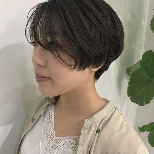 担当シオリ @shiori_tomii 大人気のハンサムショート襟足はすっきり刈り上げてあります!#hearty#shiori_hair #ハンサムショート#ショートヘア#高崎美容室