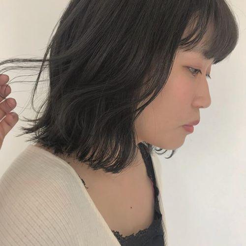 担当シオリ @shiori_tomii 茶色みを消したアッシュグレー🦕🦕#hearty#shiori_hair #アッシュグレー#グレージュ#高崎美容室#bob