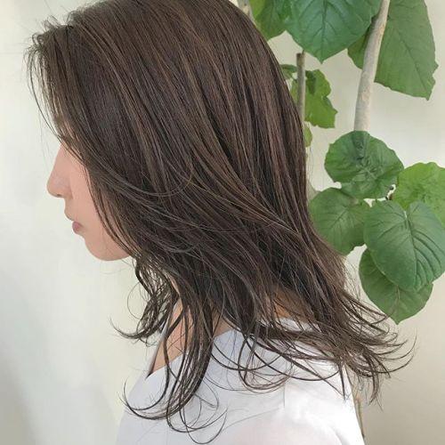 担当シオリ @shiori_tomii ash beige🐋🐋#hearty#shiori_hair #アッシュベージュ#ベージュカラー#高崎美容室