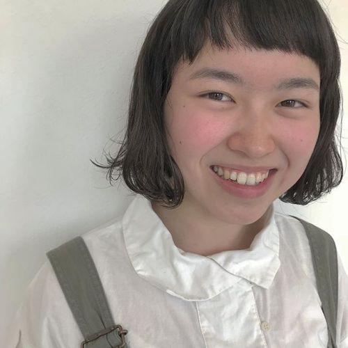 担当シオリ @shiori_tomii くせ毛を生かしたBOB hair#hearty #shiori_hair #bob#shorthair #高崎美容室#高崎