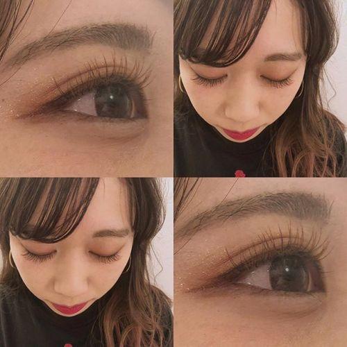 ..khaki × apricot 夏に向けてカラーまつげ人気です♡.@__ememr .#HEARTY #eyelash