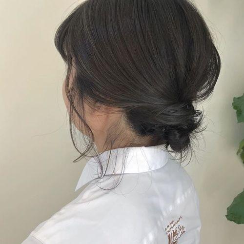 担当シオリ @shiori_tomii BOBでもラフアレンジ#hearty#shiori_hair #お団子アレンジ#hairarrange #ヘアアレンジ#高崎美容室