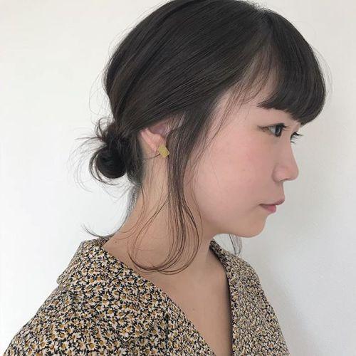 担当シオリ @shiori_tomii BOBでもゆる団子arrange🍋#hearty#shiori_hair #お団子アレンジ #hairarrange #高崎美容室#高崎