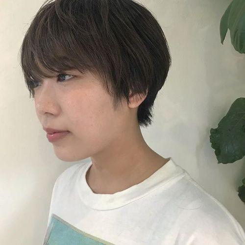 担当シオリ @shiori_tomii ハンサムショートに飽きたらより前髪つくるのもよきです🗣#hearty#shiori_hair #ハンサムショート#ショートヘア #高崎美容室#高崎
