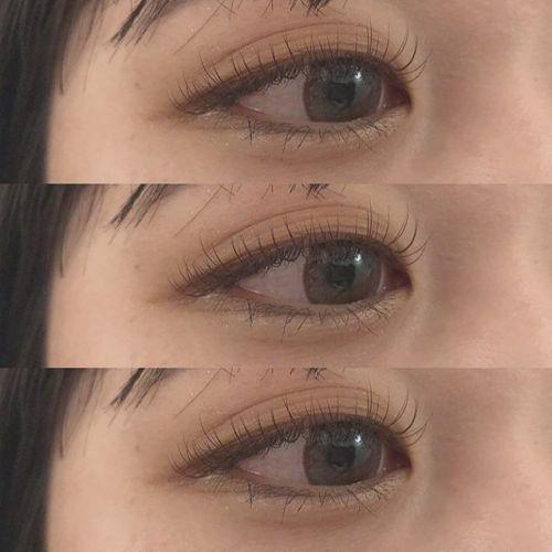 ..大人気のDカール♡ぱっちりとした目元になります♪.下がりまつげの方にもオススメです◯.eyelist [[ @__ememr ]].#HEARTY #eyelash