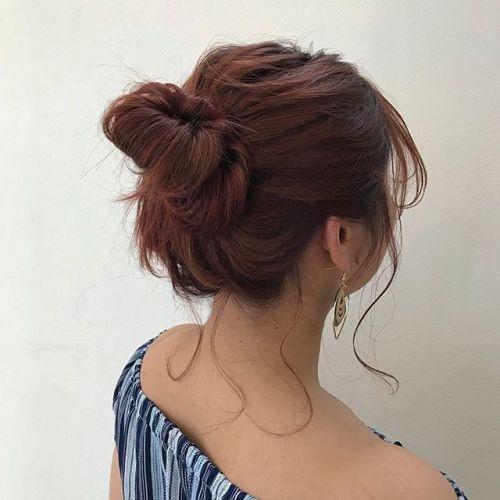 担当シオリ @shiori_tomii pink orange color#hearty#shiori_hair #orange#orangehair#オレンジ#高崎美容室#高崎