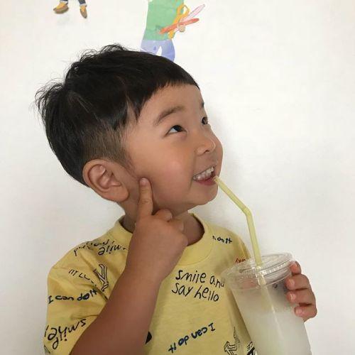 担当シオリ @shiori_tomii kids cutかわい〜〜練#hearty#shiori_hair #kidscut#キッズカット#高崎美容室#高崎