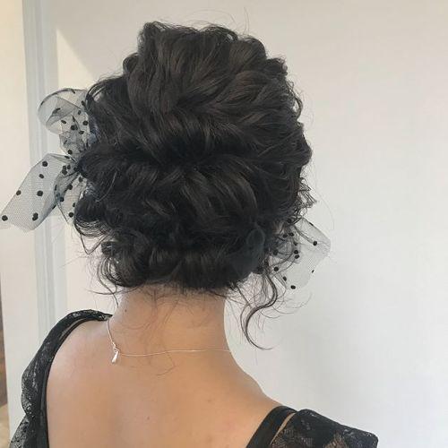 担当シオリ @shiori_tomii 結婚式のヘアセット大人目にレースで🍾#hearty#shiori_hair #結婚式セット#ヘアセット#高崎美容室#高崎