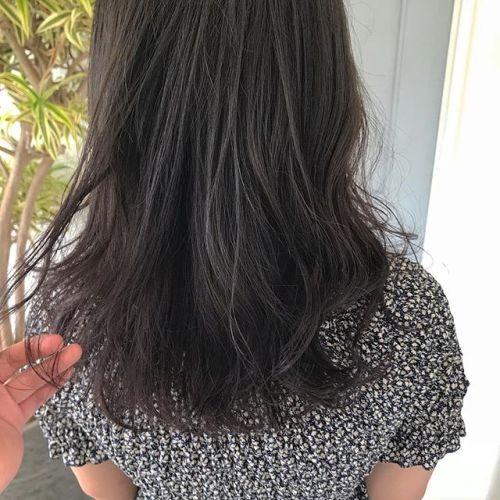 担当シオリ @shiori_tomii グレージュからラベンダーグレージュののグラデーションブリーチなしですが透明感抜群です!#hearty#shiori_hair #グレージュ#ラベンダーグレージュ #高崎美容室#高崎