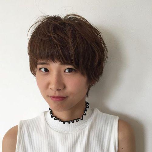 stylist:塚越ショートスタイル︎耳かけをしてコンパクトに#hearty#shorthair #ショートカット#高崎#美容室