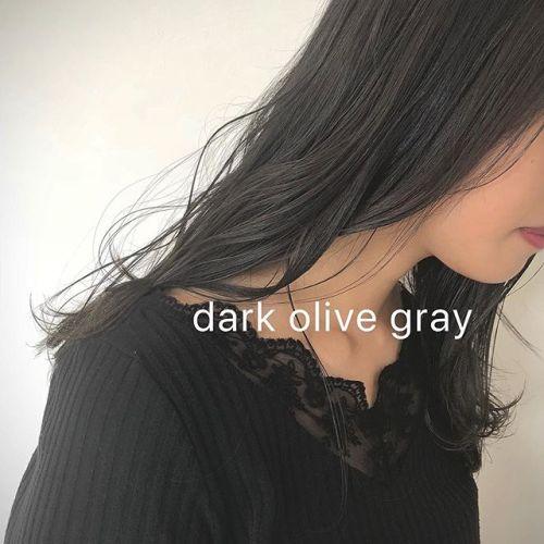 dark olive gray・・秋カラーはオリーブ系オススメです担当 野上・・#HEARTY#abond#高崎#高崎美容室#群馬#ブリーチカラー#ハイライト#ヘアカラー#ブリーチ#外国人風カラー#外ハネ#ブルージュ#波ウェーブ#グレージュ#カーキグレージュ#アッシュグレージュ