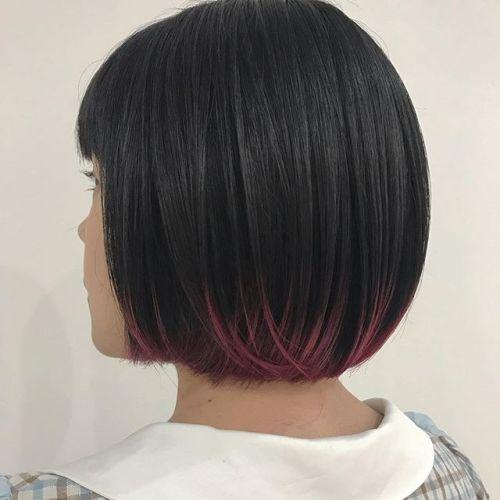 担当シオリ @shiori_tomii 裾のみ染めるヘムカラーヘムカラーなら派手な色もかわいいのでおすすめです#hearty#shiori_hair #ヘムカラー#ヘアカラー#ヘアスタイル#裾カラー #高崎美容室#高崎